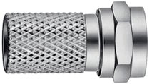 F-Connector 7.0 mm Male Zilver